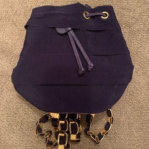 Salvatore Ferragamo Navy shoulder bucket bag